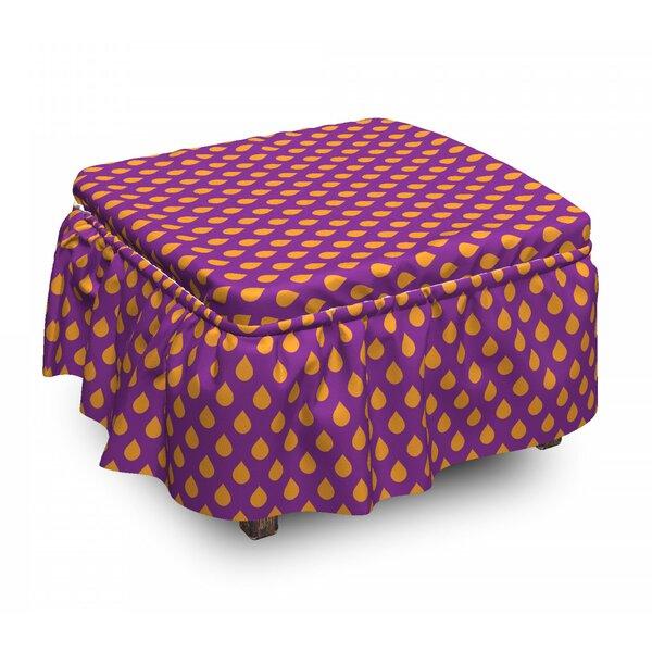 Polka Dot Inspired Ottoman Slipcover (Set Of 2) By East Urban Home