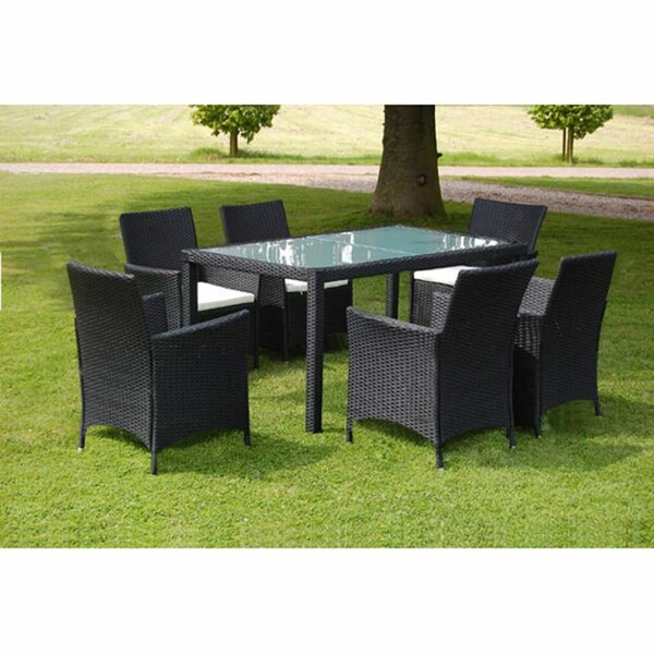 Warminster Outdoor 7 Piece Dining Set with Cushions by Sol 72 Outdoor