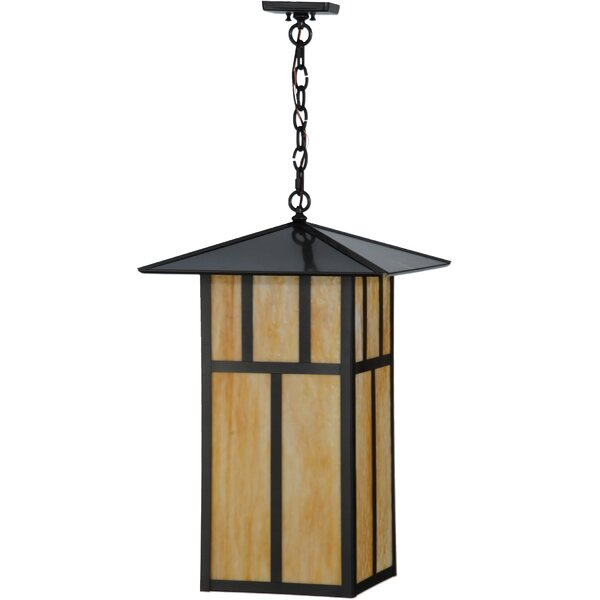 Seneca Double Bar Mission 3 - Light Lantern Square Chandelier by Meyda Tiffany Meyda Tiffany