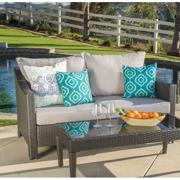 Portola 2 Piece Rattan Seating Group with Cushions by Sol 72 Outdoor