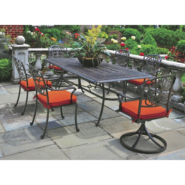 Merlyn 7 Piece Patio Dining Set with Cushions by Fleur De Lis Living
