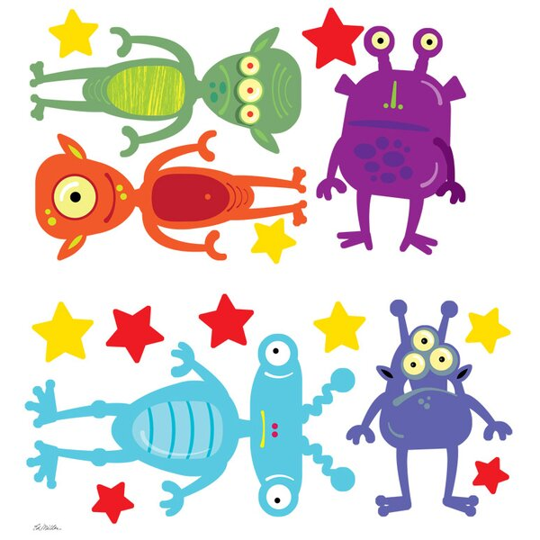 Aliens Among Us Peel and Place Wall Decal by Oopsy Daisy