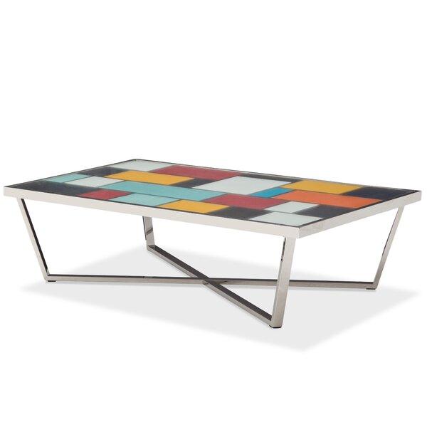 Kube Cross Legs Coffee Table By Michael Amini