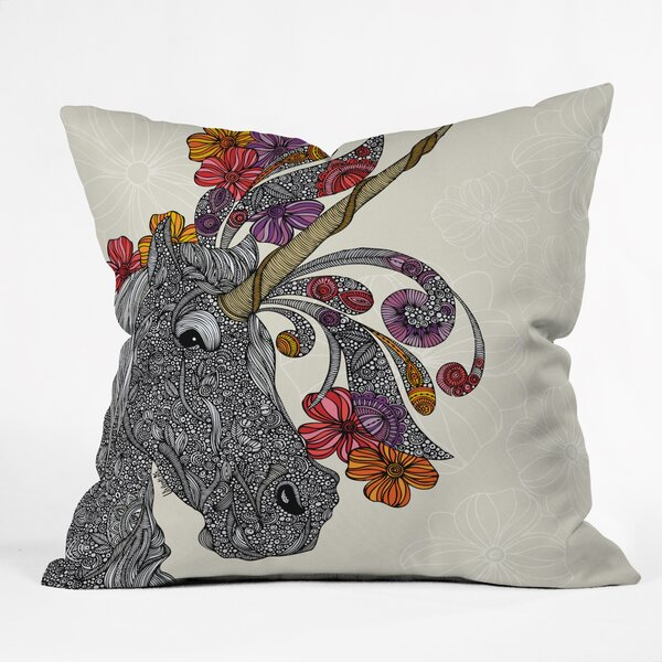Valentina Ramos Unicornucopia Throw Pillow by Deny Designs