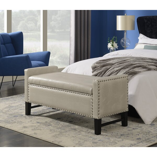 Vandalia Faux Leather Flip Top Storage Bench By Darby Home Co by Darby Home Co Design
