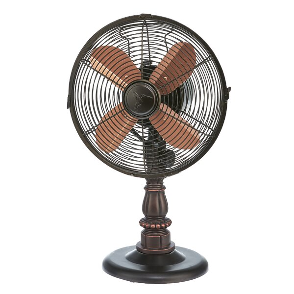 Pinion 10 Oscillating Table Fan by Astoria Grand