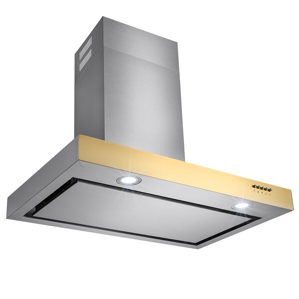 36 380 CFM Convertible Wall Mount Range Hood by AKDY
