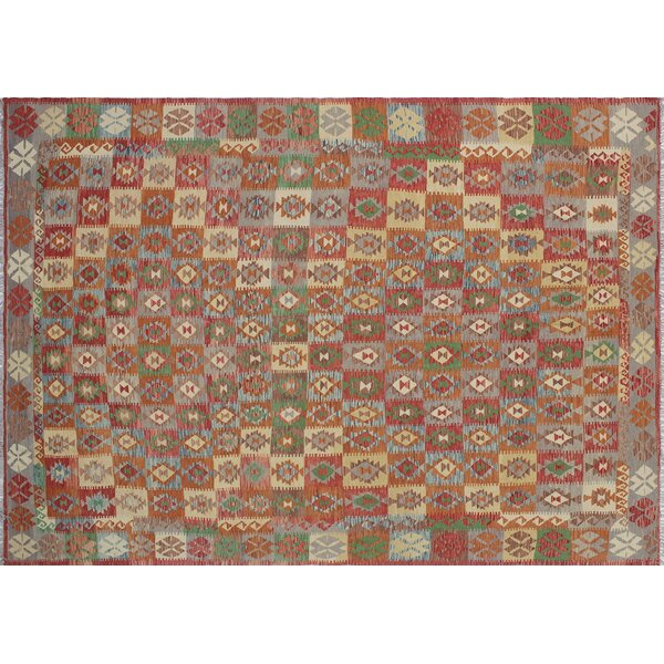 One-of-a-Kind Mcgill Kilim Geometric Hand-Woven Rectangle Rust Area Rug by Bungalow Rose