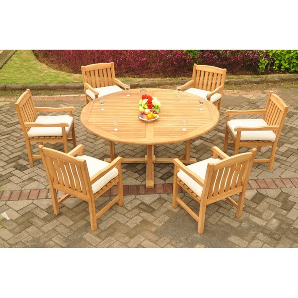 DeMontfort Luxurious 7 Piece Teak Dining Set