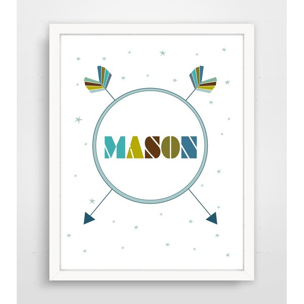 Personalized Tribal Arrow Name Paper Print by Finny and Zook