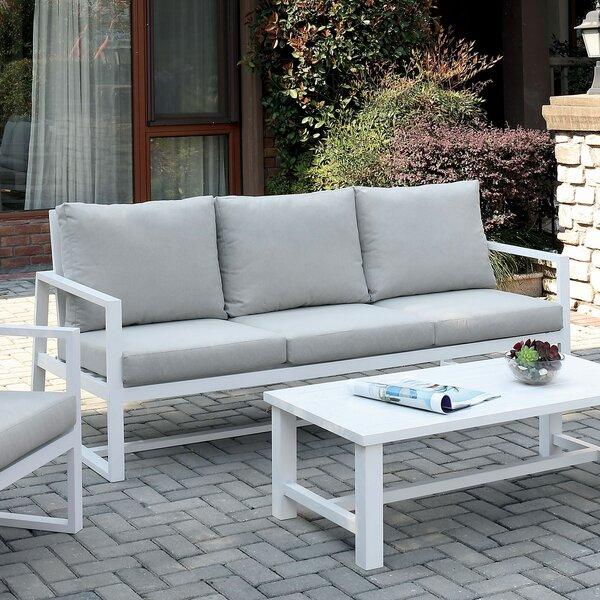 Lauria Patio Sofa with Cushions by Orren Ellis Orren Ellis