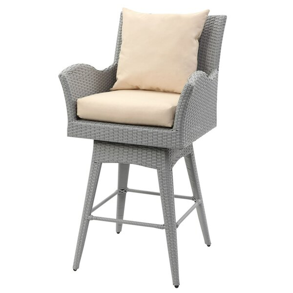 Carstarphen 27 Patio Bar Stool with Cushion by Latitude Run| @ $455.84