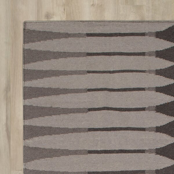 Hand Woven Cotton Brown/Gray Area Rug by Surya