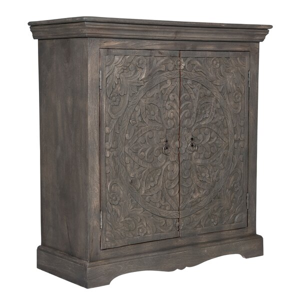 Silkleaf Carved 2 Door Accent Cabinet by World Menagerie