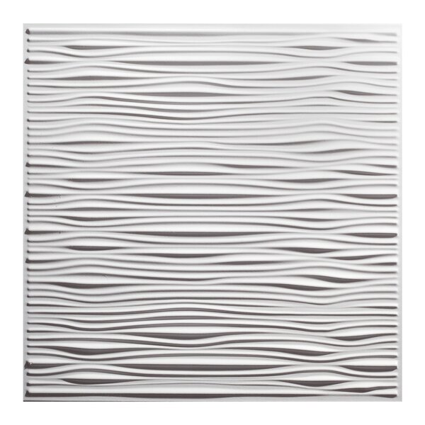 Drifts 2 Ft X 2 Ft Pvc Drop In Ceiling Tile In White Set Of 12 By Genesis.