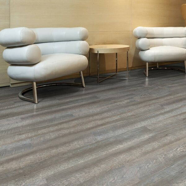 6 x 48 x 2.5mm Luxury Vinyl Plank in Gray by Floressence Surfaces