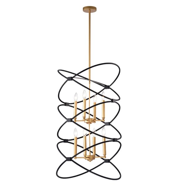 Newington 8-Light Candle Style Geometric Chandelier by Everly Quinn Everly Quinn