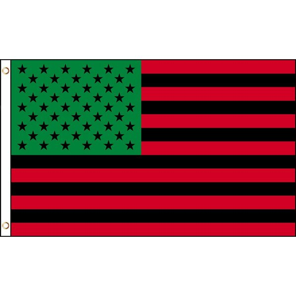 Afro American Polyester 3 x 5 ft. Poly House Flag by NeoPlex