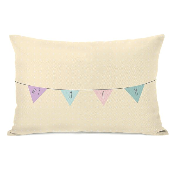 Mom Banner Lumbar Pillow by One Bella Casa