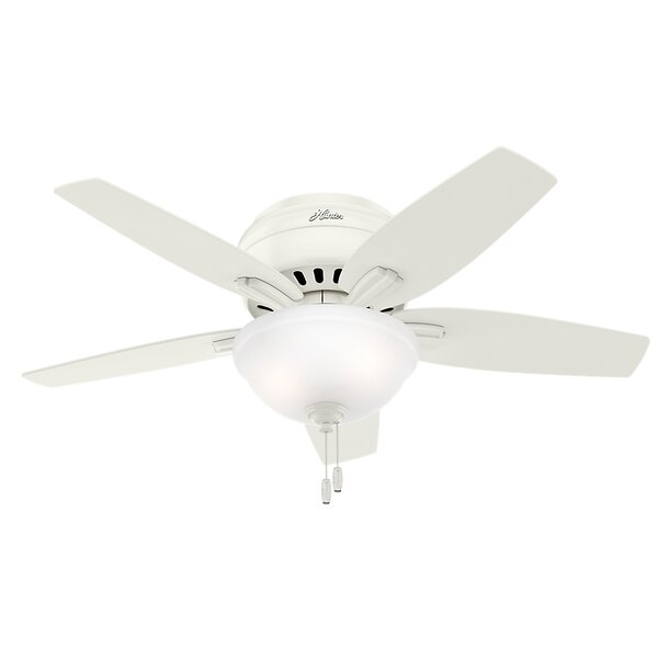 42 Newsome Low Profile 5-Blade Ceiling Fan by Hunt