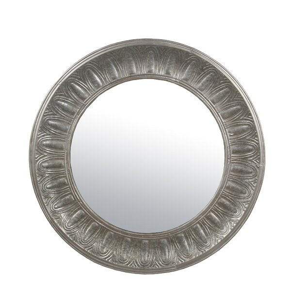 Torrance Round Wood Accent Mirror by Bloomsbury Market