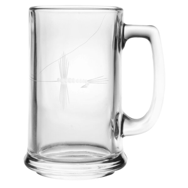 Fly Fishing 15 oz. Beer Mug (Set of 4) by Rolf Glass