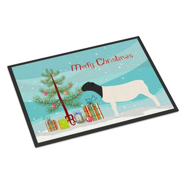 Dorper Sheep Christmas Non-Slip Outdoor Door Mat