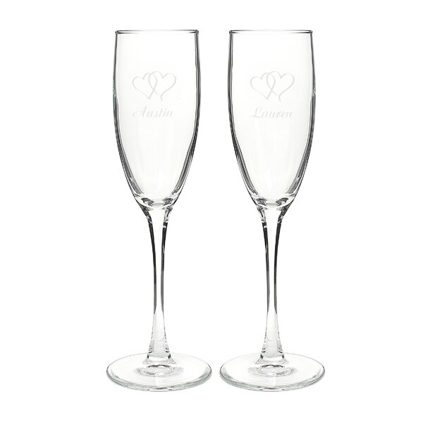 Double Hearts Champagne Flute by Cathys Concepts