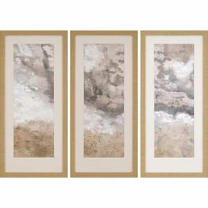 Earthen I 3 Piece Framed Painting Print Set by Paragon