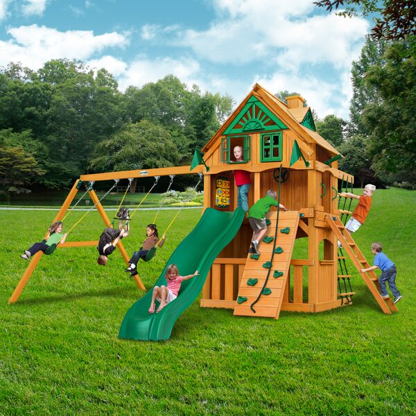 Chateau Clubhouse Treehouse Swing Set by Gorilla Playsets