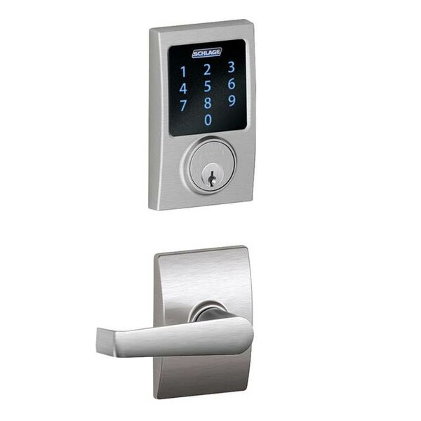 Connect Touchscreen Deadbolt and Elan Lever with Century Trim by Schlage