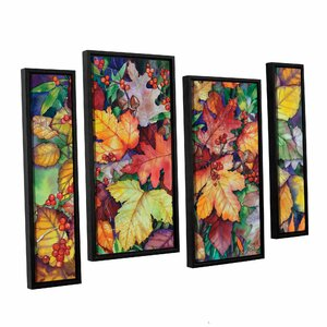 Wild Bouquet 4 Piece Framed Painting Print on Canvas Set by Darby Home Co