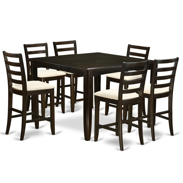 Krull 7 Piece Counter Height Dining Set by Red Barrel Studio