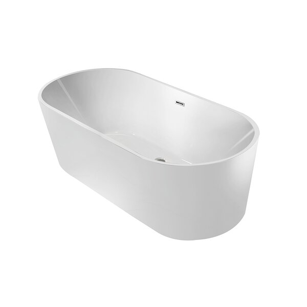 Aqua Eden Marianne 59 x 30 Freestanding Soaking Bathtub by Kingston Brass
