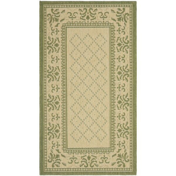 Beasley Natural/Olive Outdoor Rug by Astoria Grand