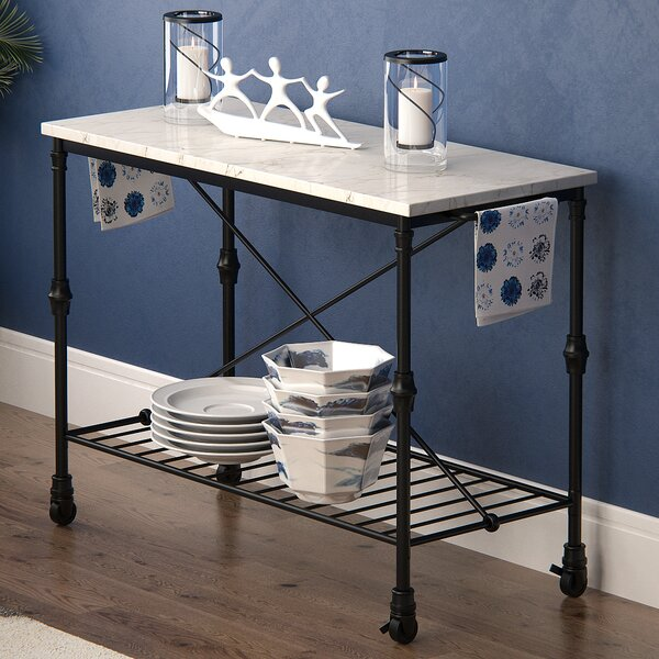 Looking for Kitchen Island With Metal Open Shelf By Latitude Run New Design