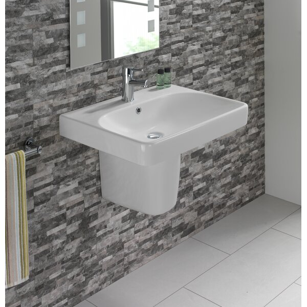 Smyle Vitreous China 24 Wall Mount Bathroom Sink with Overflow by Bissonnet| @ $940.00