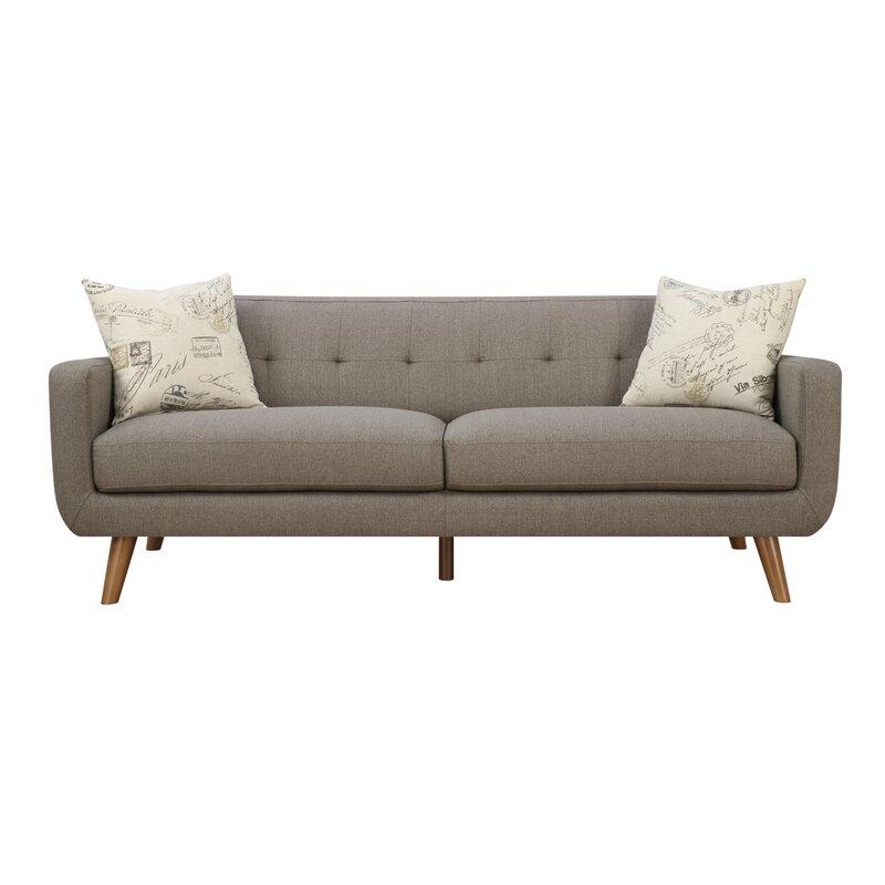 Mid Century Modern Sofa U0026 Pillow Set