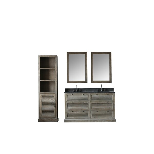 Kylie 61 Double Bathroom Vanity Set with Mirror by Millwood Pines