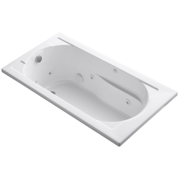 Devonshire Drop-In Whirlpool Reversible Drain and Bask™ Heated Surface by Kohler