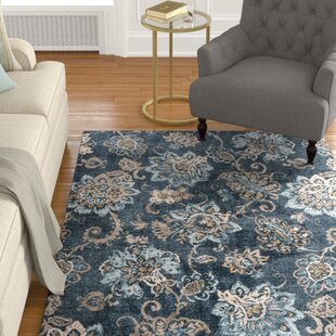 Find Russell Navy Blue/Brown Area Rug By Charlton Home