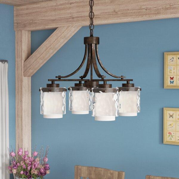 Vidette 4 - Light Shaded Chandelier by Laurel Foundry Modern Farmhouse Laurel Foundry Modern Farmhouse