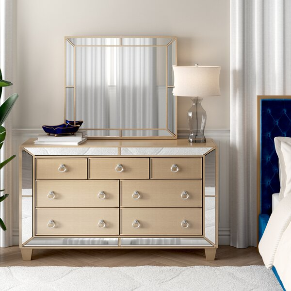 Alasdair 7 Drawer Dresser with Mirror by Willa Arlo Interiors
