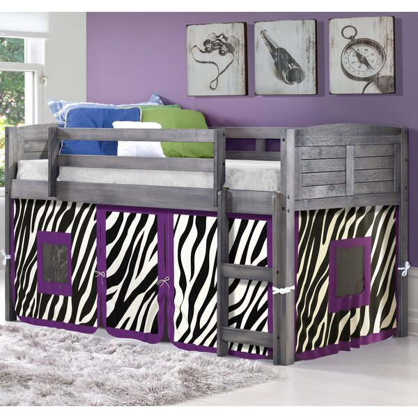 Evan Zebra Twin Low Loft Bed by Zoomie Kids