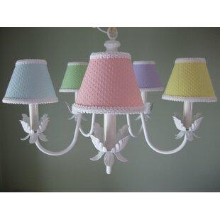 Baby nursery chandelier wayfair ooh baby baby 5 light shaded chandelier aloadofball Images