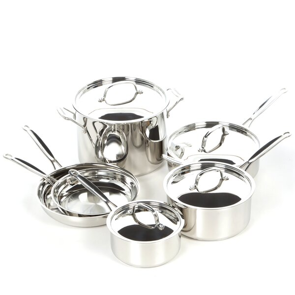 Chef S Classic Stainless Steel 10 Piece Cookware Set By Cuisinart.