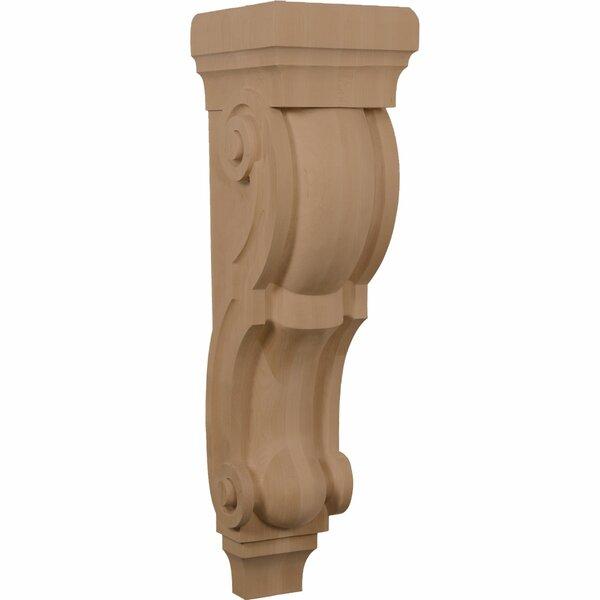 Tradtional 30H x 8W x 9D Pilaster Corbel by Ekena Millwork