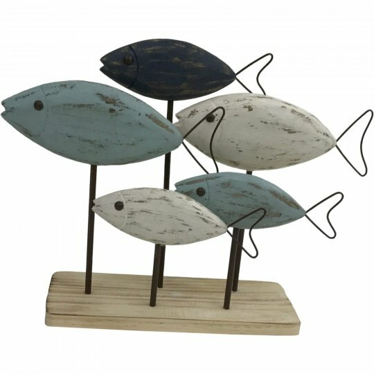 Howie Wooden Fish on Base Figurine by Highland Dunes