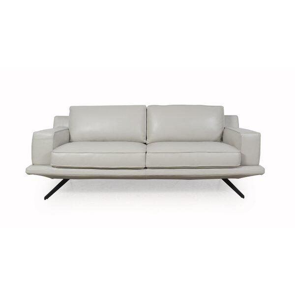 On Sale Bernice Leather Sofa