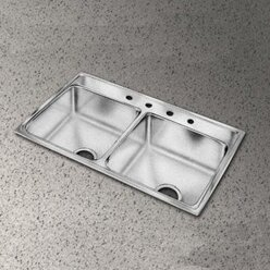 pacemaker 43   x 22   double bowl kitchen sink elkay pacemaker 43   x 22   double bowl kitchen sink  u0026 reviews   wayfair  rh   wayfair com